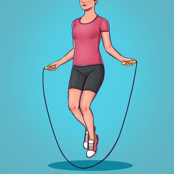 8種「比跑步更能瘦」的快速燃脂運動 一條繩子就能燒掉370卡!