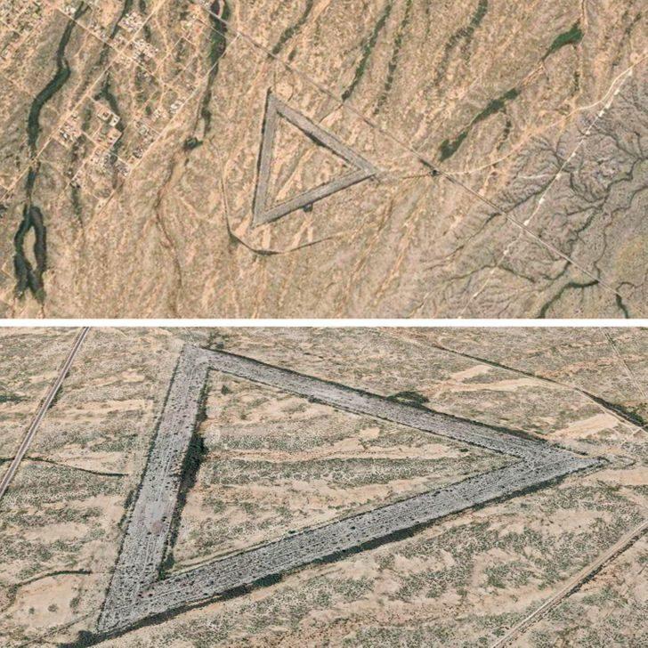 11個「Google地圖」找到的奇怪景象 「沙漠中的破鏡」是170個家庭的痛