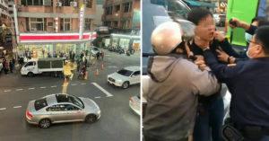 台中爆行車糾紛 4貼機車男嗆:撞我啊...貨車司機油門踩下去