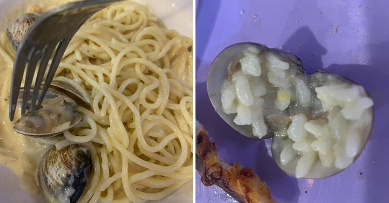 吃麵發現「蛤蜊包飯」當場嚇傻 店家「來電保證」她聽完超反胃