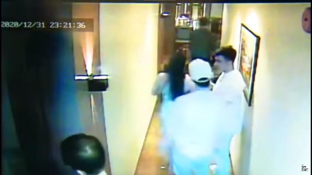 空姐案狂歡趴「最後身影曝光」 生前走廊激吻...白帽男:她強吻我