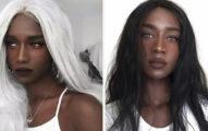 16歲封「最美黑珍珠」白髮超空靈 還挑戰「粉紅少女色」變身夢幻精靈!