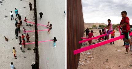 美墨兩國民眾隔高牆玩「蹺蹺板」 震撼意義「奪2020設計大獎」