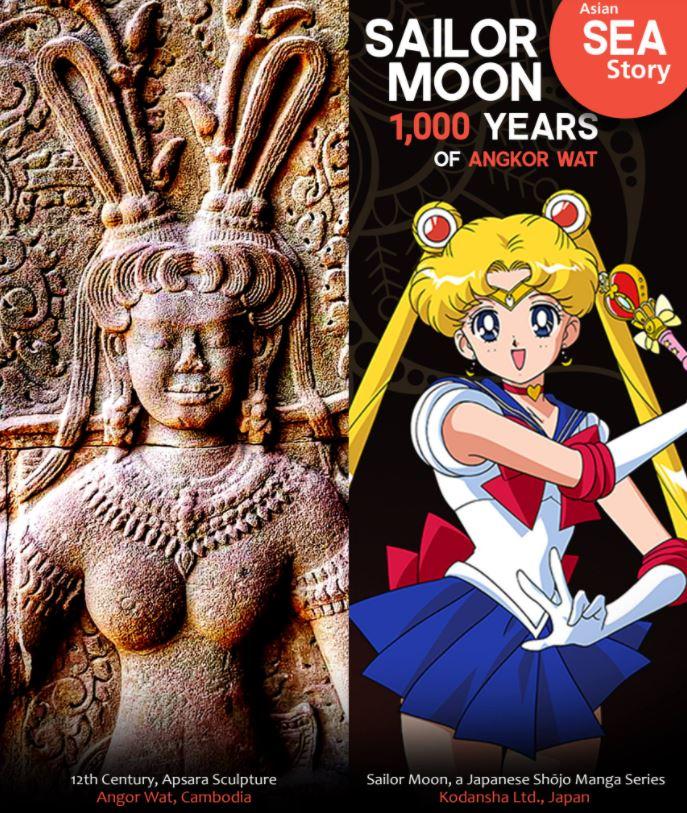 月光仙子真有其人?吳哥窟仙女「撞臉美少女戰士」 超潮「頭髮造型」神還原