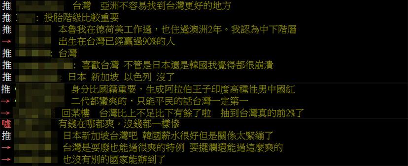 他問「生在亞洲哪國」籤運最好?網答案意外一面倒:贏過90%的人