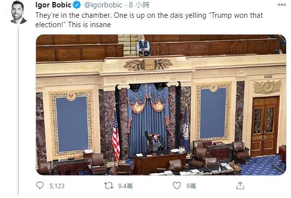 川普支持者闖國會