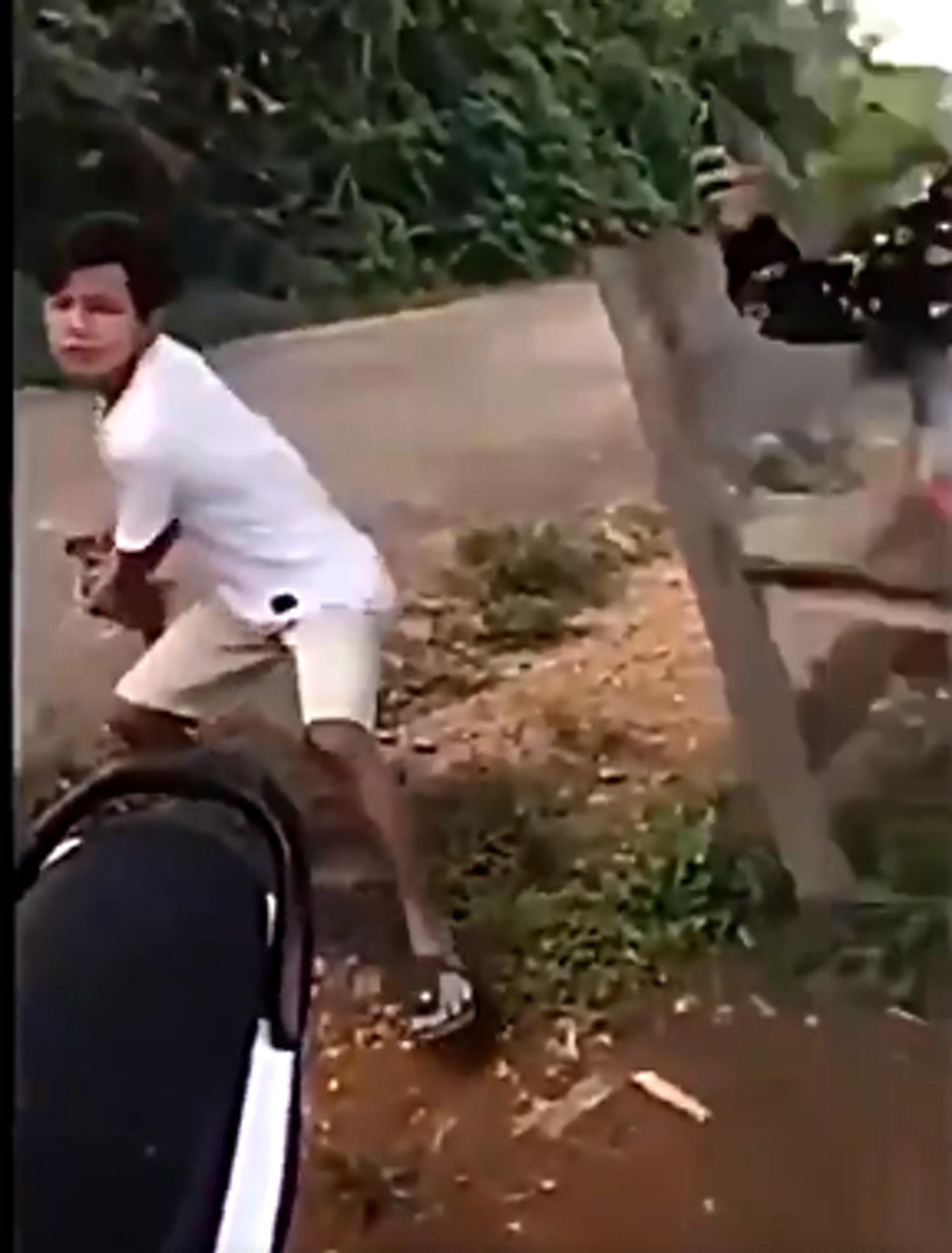 兩少年拍片大笑「懸崖丟貓咪」空中翻轉 一見警察大爆哭