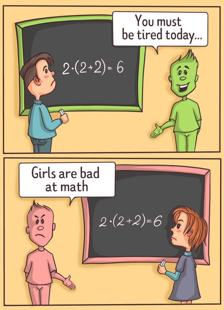 10個2021年依然氾濫的「有毒雙標」 「答錯數學題」也要分男女?