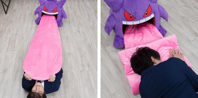 想被耿鬼舔一下嗎?寶可夢推惡趣味毯子 「6種獵奇用法」捲起來最溫暖!