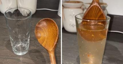 她嘗試把「外表乾淨木湯匙」放水洗 超噁成果網直呼:再也不敢用
