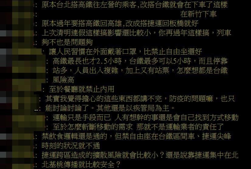高鐵春節「取消自由座」引眾怒?他列3點狠批:更大破口不去管