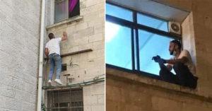 73歲母確診醫院不給進 兒子「每天爬窗」探視...窗外陪她走完人生