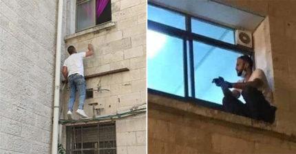 73歲母確診新冠不給探視 兒子「每天爬窗台」看一眼...卻從此永別