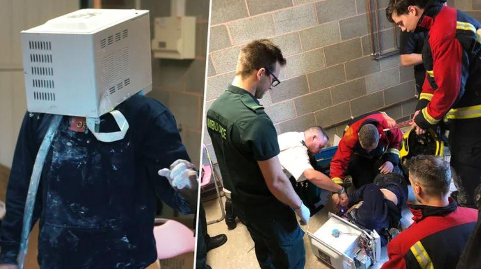 YouTuber想衝流量變「微波爐人」 「差點往生」消防員氣炸