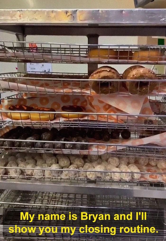甜甜圈浪費