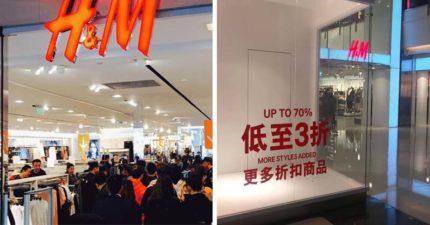 抵制拒買才3天 中國H&M傳「全場3折」畫風大變!台網笑:太眼熟