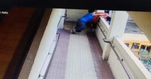 13歲女童「強丟婦人下樓」 趴牆探頭看「確認下場」才轉身