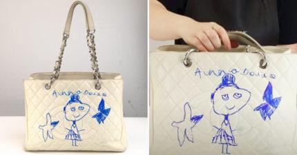 5歲童塗鴉「絕版名牌包」附簽名 媽崩潰「送修神復原」網笑:不洗更好