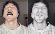 臉胖有救了?男模咬「黑色小物」2個月 練出「激凸臉型」超自豪