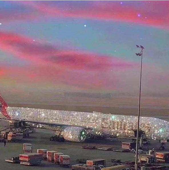 這很杜拜?阿聯酋「閃鑽客機」超浮誇 網看「鑽石衛生紙」嘆:貧窮限制想像
