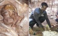 農村驚見恐怖「人臉山羊」 居民一看插香膜拜:是祖先轉世