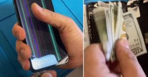 維修員發現手機藏「6千元+小紙條」 人夫寫下求救:千萬別修我手機!