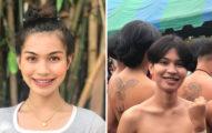 泰國變性正妹徵兵抽籤!霸氣現身排隊「上身光著」成全場焦點