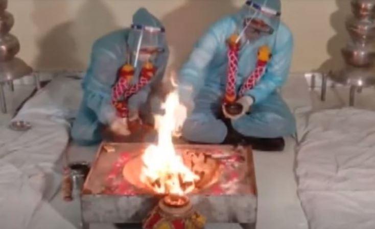 新郎確診新冠!印度新人「照辦婚禮」當局傻眼急衝現場