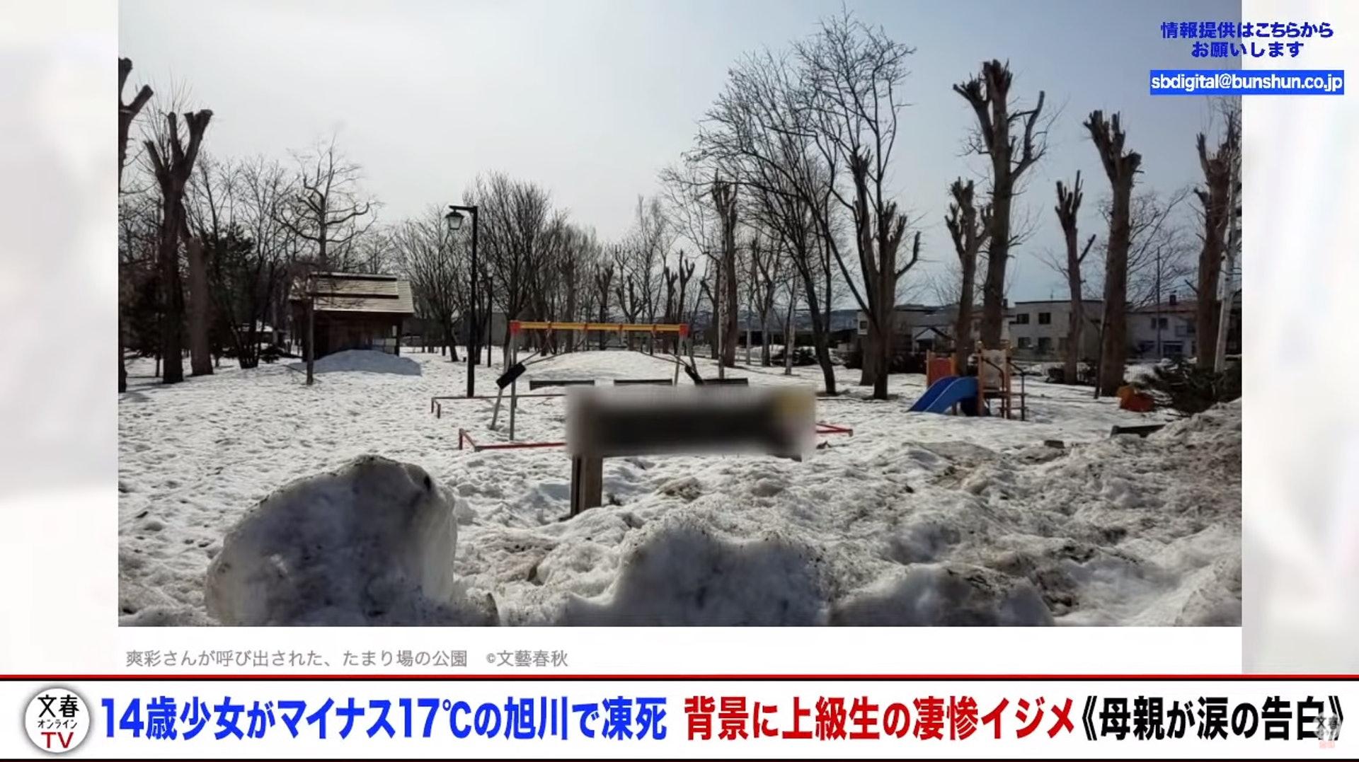 14歲女公園積雪下凍死 母淚控「霸凌間接他殺」:被迫當眾做給男同學看