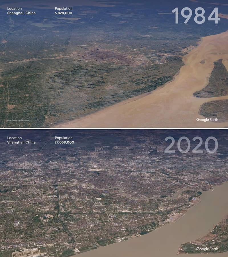 人類花37年就搞垮地球?Google縮時新功能「1984→2020」見證恐怖環境巨變