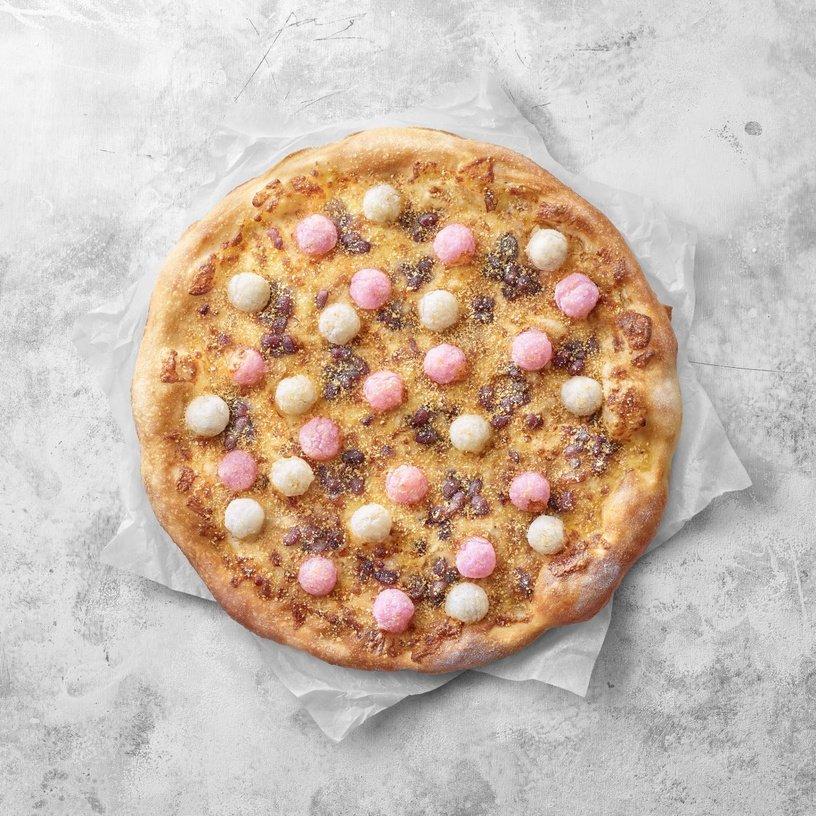 必勝客不要玩食物!挑戰台人底線「炸湯圓尬披薩」 網PO「開箱照」反應兩極