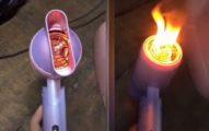 影/網購吹風機「有奇怪聲音」 她一開「吹出火」嚇傻:好險沒對著頭