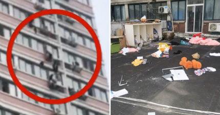 跟男友吵架!女從15樓「狂丟123件物品」:電腦螢幕、高跟鞋...