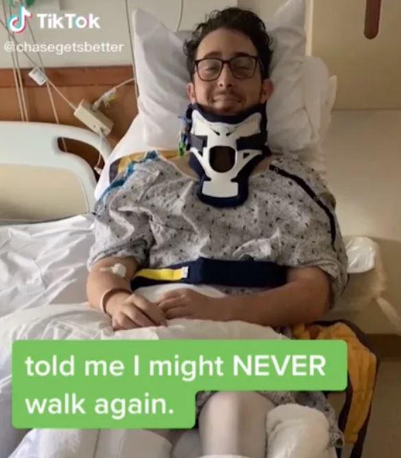 車禍被醫生說「恐一生癱瘓」 摯友激勵放話:康復就讓你「踢我蛋蛋」