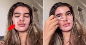 「男生都不知道女生月經會脫皮?」 女模親自「撕臉」示範