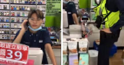 店員結帳「翻倒綠茶」央大男氣炸!怒嗆:你中學沒畢業?