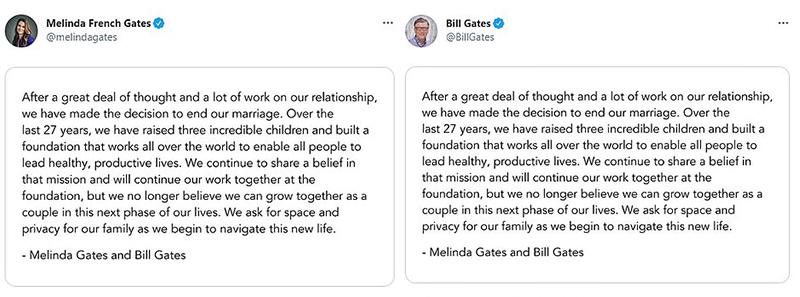 比爾蓋茲離婚!3.5兆身價夫妻「27年婚姻結束」坦承原因:不能再一起成長