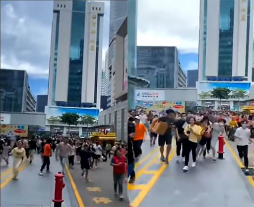 影/沒地震!中國地標建築突「反自然狂晃」 上千民眾逃竄如災難片