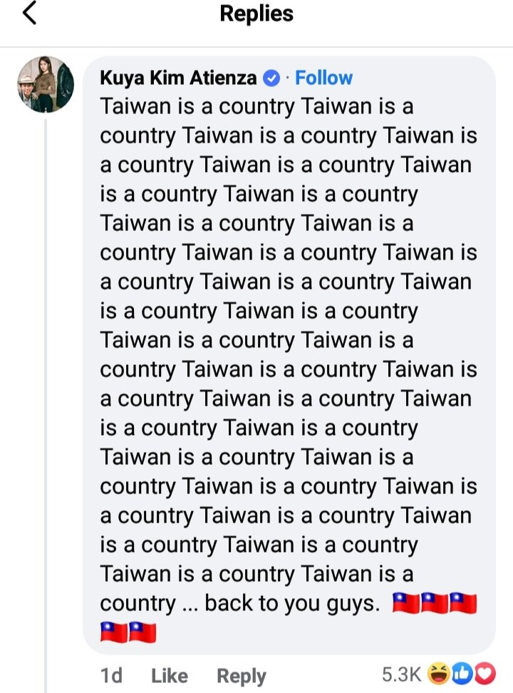 約翰希南向中國狂道歉!菲律賓主持人怒推30次:台灣是個國家