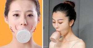 中國奇葩「V臉神器」大熱賣!稱「每天吸含3分鐘」輕鬆瘦臉