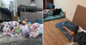 京元電解除隔離「移工卻無床可睡」 私人物品遭垃圾袋打包亂丟