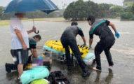 稻田還是道路?彰化暴雨淹水 女騎士「騎到溺水」命危送醫搶救