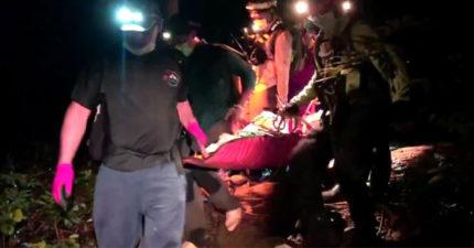 夫妻「豪雨天登山遇難」夫墜谷亡 警消救援「遭毒蛇咬傷」