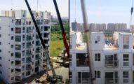 中國黑科技「1天蓋10層樓」超美公寓 外國網友嚇傻:像樂高一樣