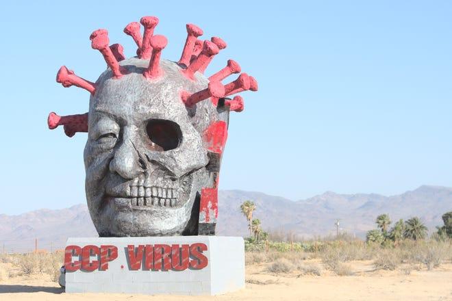 病毒是習近平的頭!美國「中共病毒」雕像6月4日落成