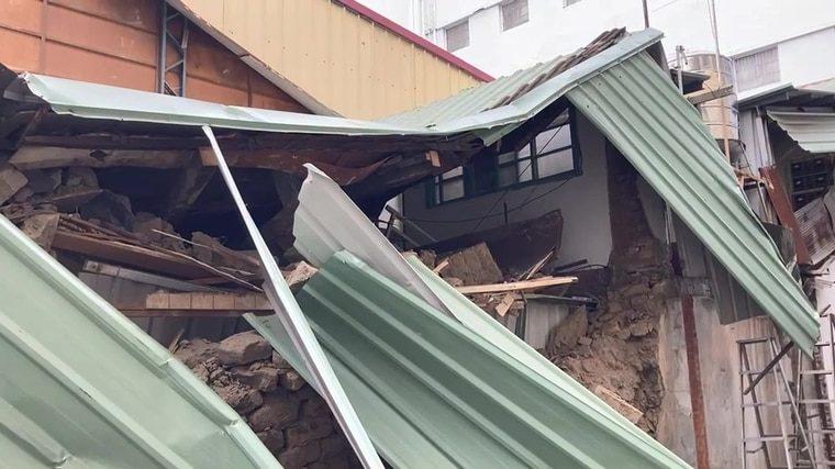 台中老宅倒塌