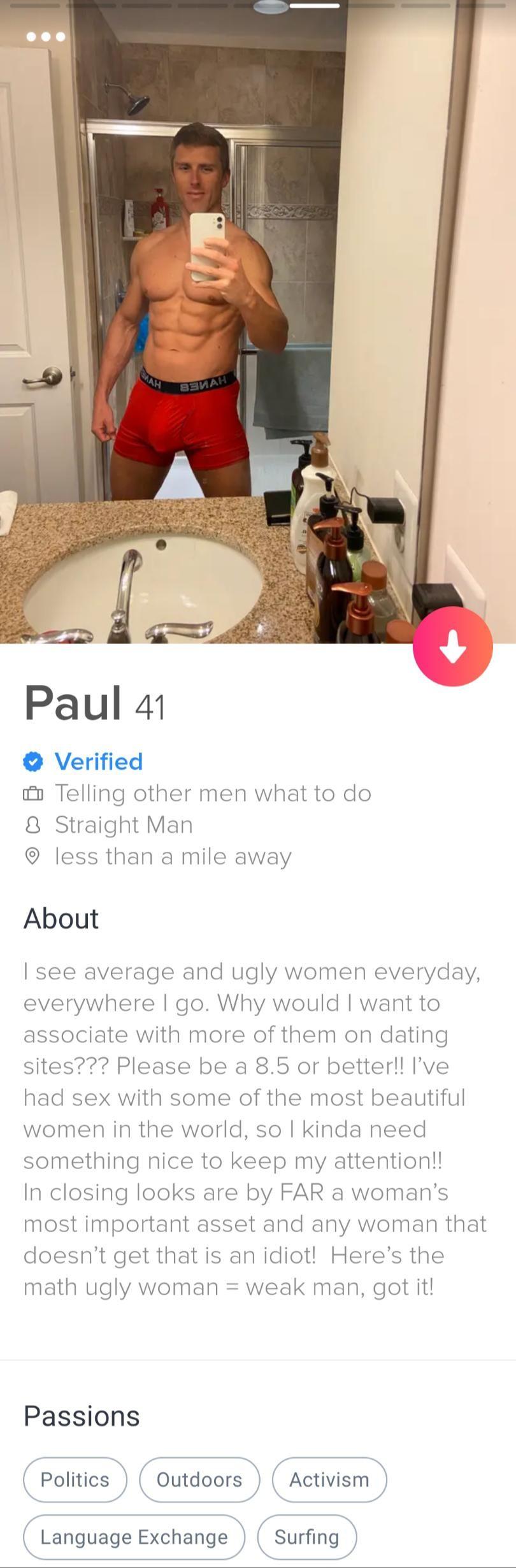 41歲男嗆8.5分女人才約