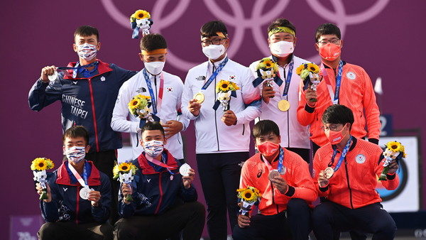 奧運箭客金銀銅自拍
